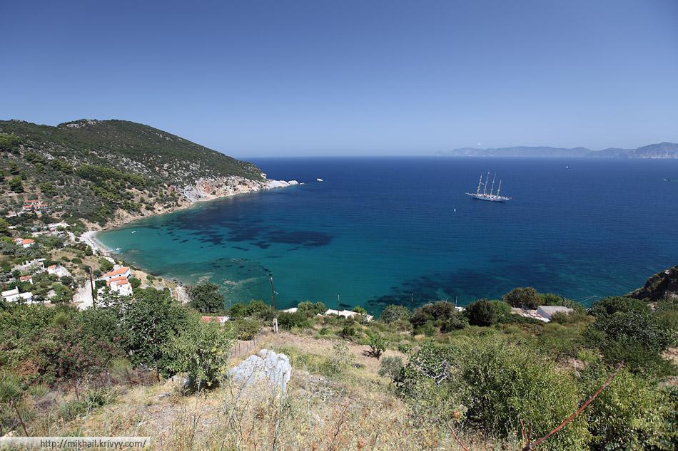 Остров Скопелос (Skopelos), Греция. Пляж Агиос Константинос (Agios Konstantinos)