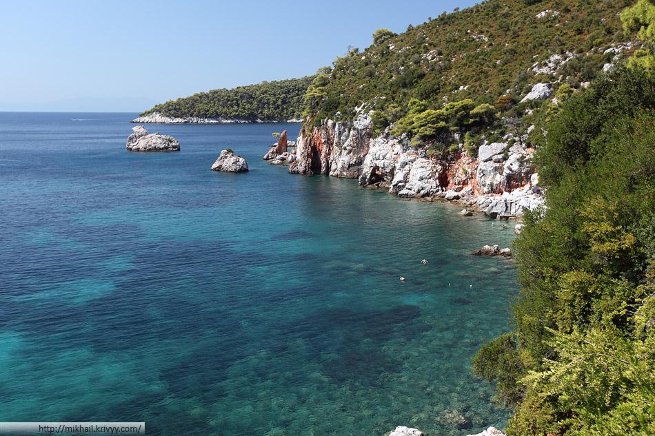 Остров Скопелос. В районе пляжа Стафилос (Stafilos)