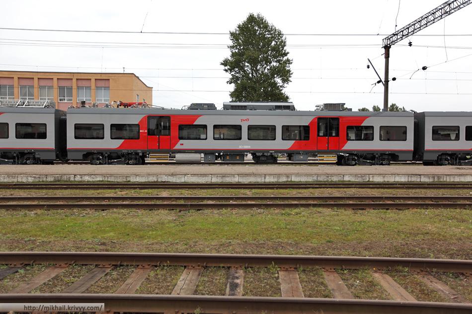 """Электропоезд ЭС1-006 """"Ласточка"""" (Siemens Desiro)."""