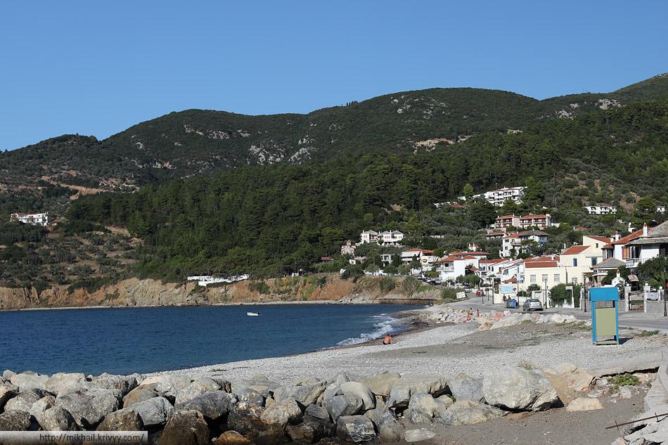 Пляж в городе Скопелос