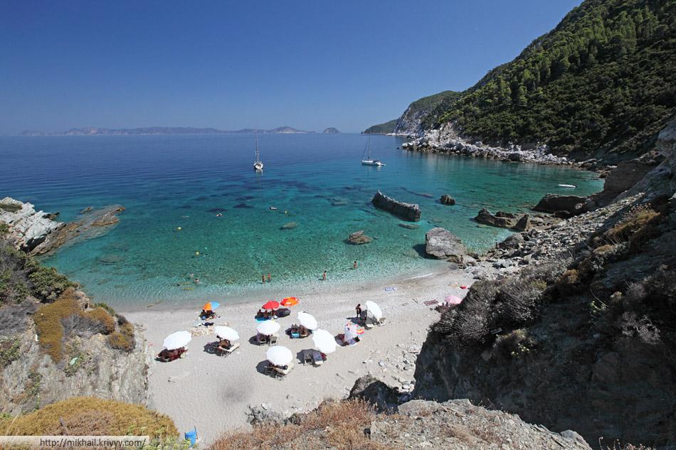 Пляж Агиос Иоаннис (Agios Ioannis) - основная часть.