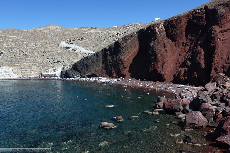 Красный пляж. Санторини.
