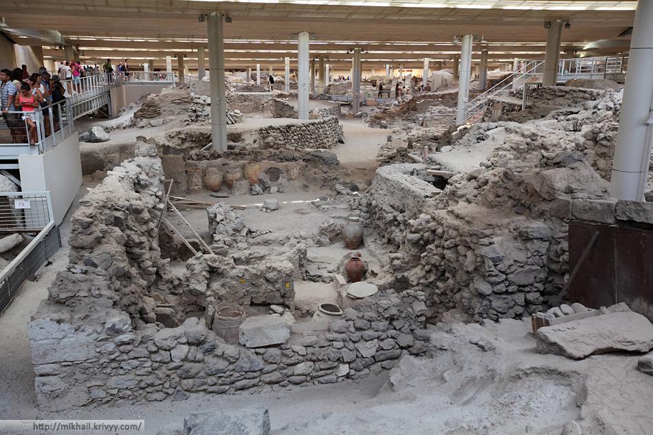 Музей-раскопки Акротири.