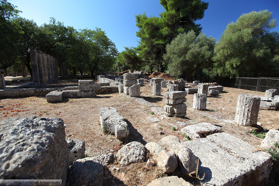Термы Кладея. Олимпия (Olimpia), Греция.