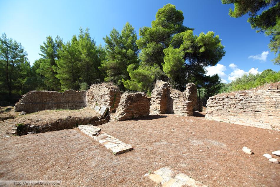 Гостиницы VI-V веков. Олимпия (Olimpia), Греция.