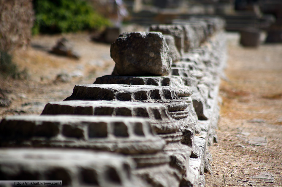 Леонидайон. Точнее его остатки. Олимпия (Olimpia), Греция.