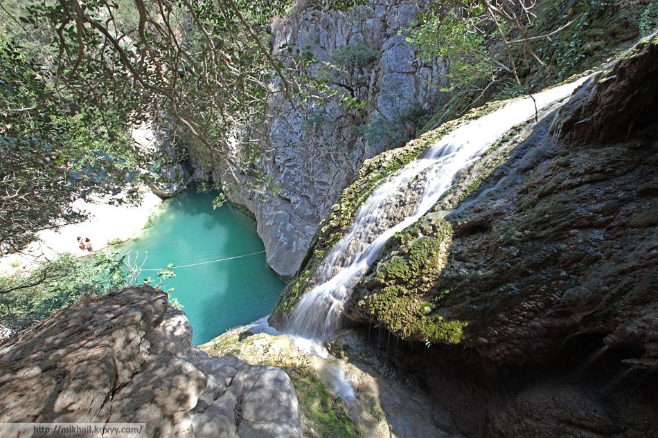 Водопады Полилимнио.
