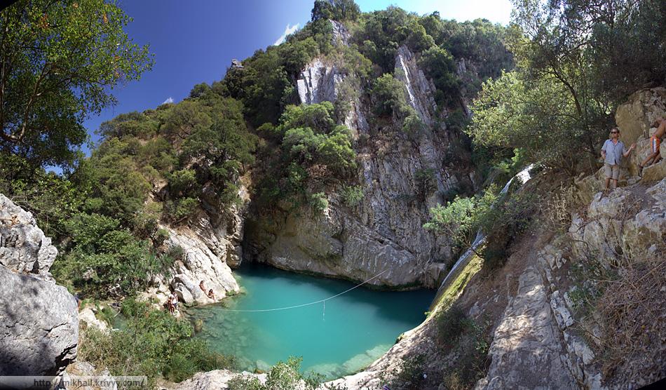 Водопады Полилимнио. Пелопоннес. Греция.