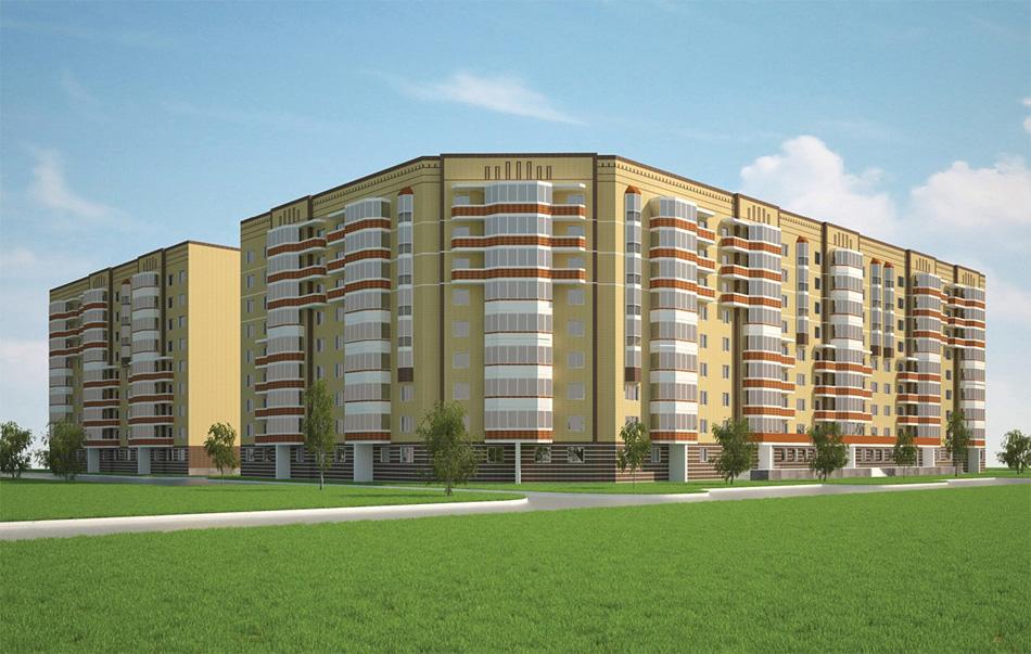 Проект группы многоквартирных жилых домов по ул. Хутынской.