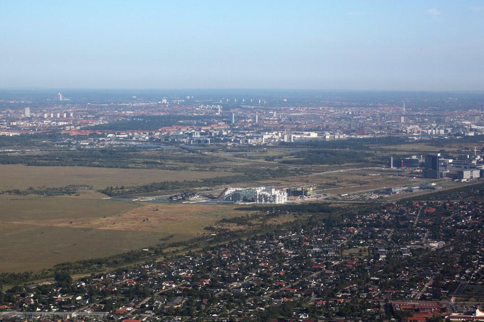 Копенгаген. Вид на взлете.