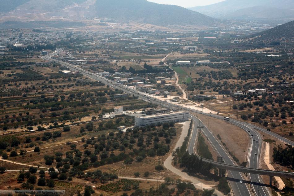 Аттика (регион Греции). Заходим на посадку.
