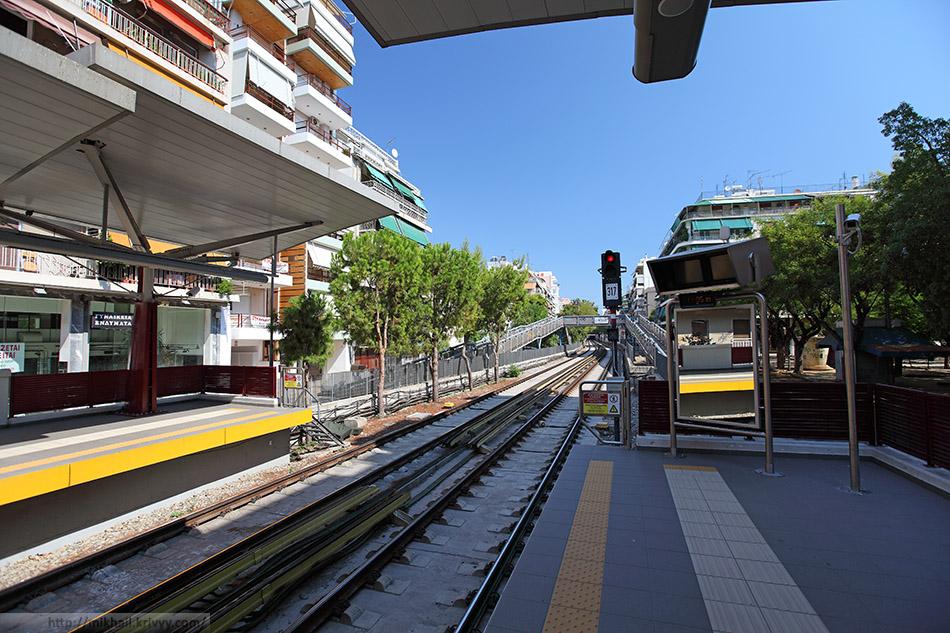 Станция метро Aghios Nikòlaos. Ветка 1, зеленная.