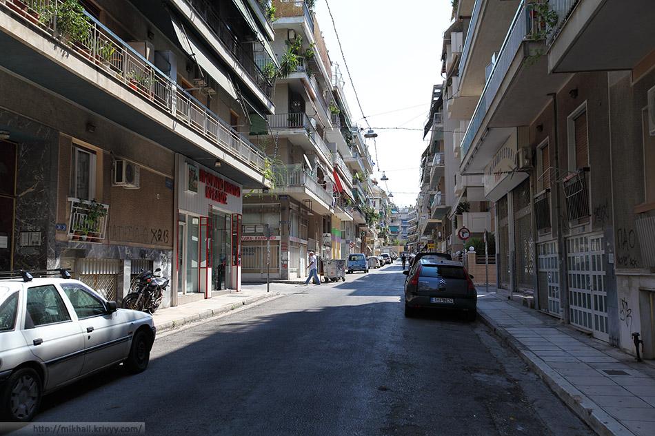 Афины. Спальный район Kato Patisia.