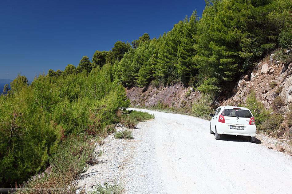 Грунтовые дороги Скопелоса. В поисках самой высокой горы острова.