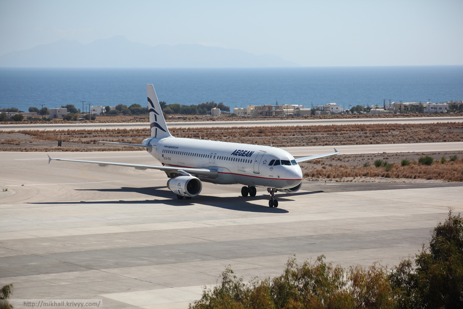 Наш борт - Airbus A320-232 Aegean Airlines.