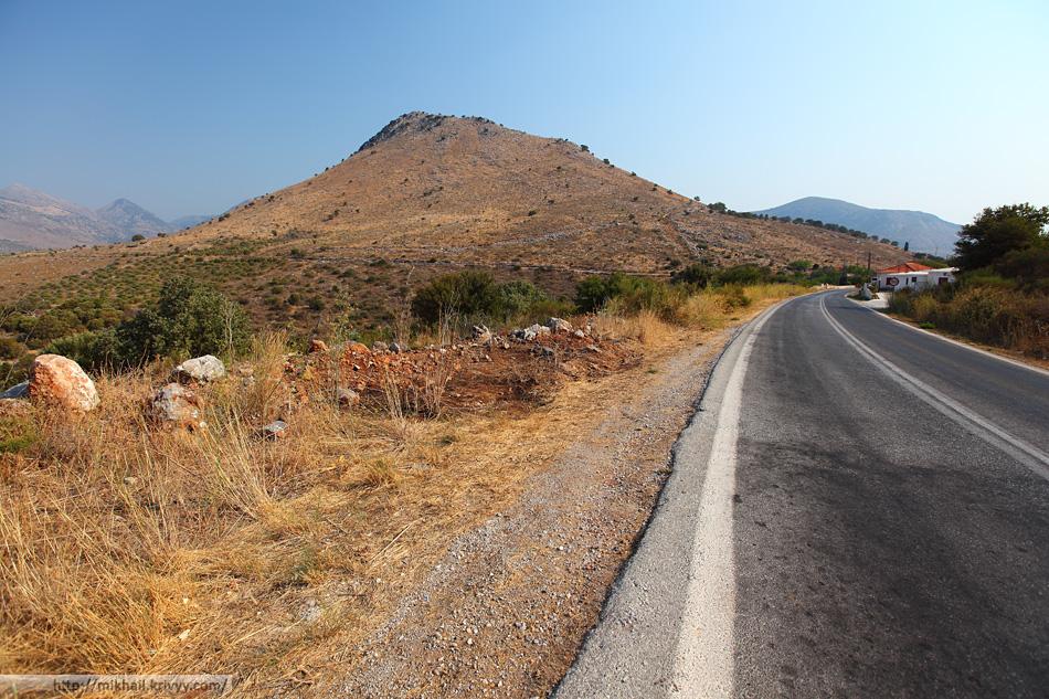 Дорога Гитео (Gytheio) - Ареополи (Areopoli). Полуостров Мани.