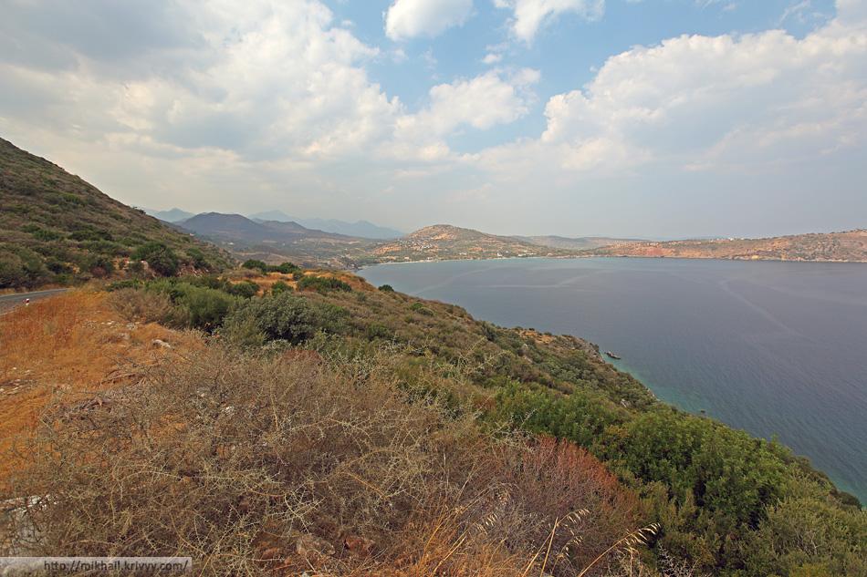Вид на залив Котронас (Kotronas) и восточный Мани.