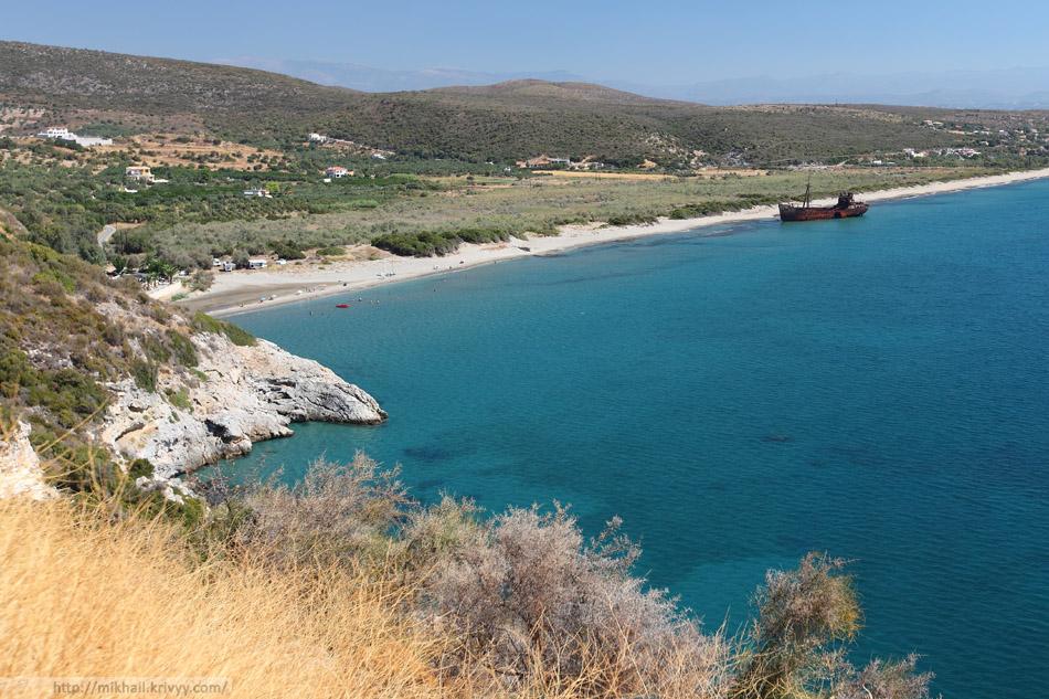По дороге из Гитео в Моневмасию (Фактически на выезде из Гитео). Пелопоннес, Греция.