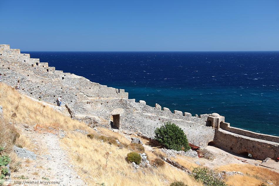 Городские стены. Монемвасия (Monemvasia), Греция.
