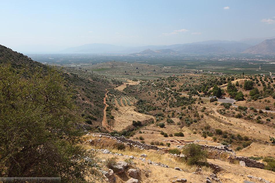 Вид в сторону Нафплиона. Тут очень красиво.