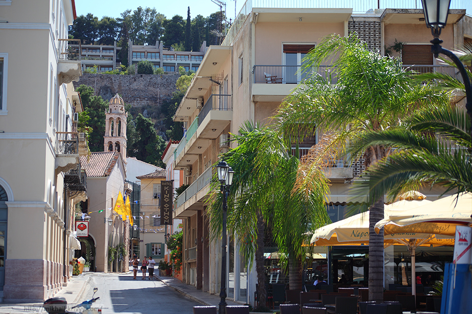 Улица Виронос (Vironos).  Нафплион. Греция.