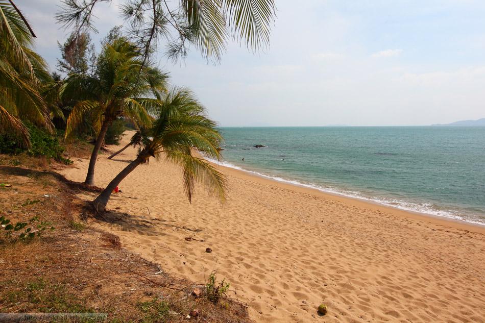 """Пляж в восточной части парка """"Край Света"""". Сравните его с тем, что происходит с западной стороны (фото ниже)."""