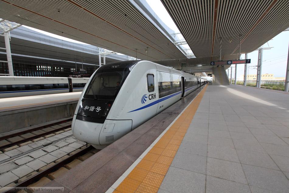 Поезд CRH1A скоростных железных дорог Хайнаня.