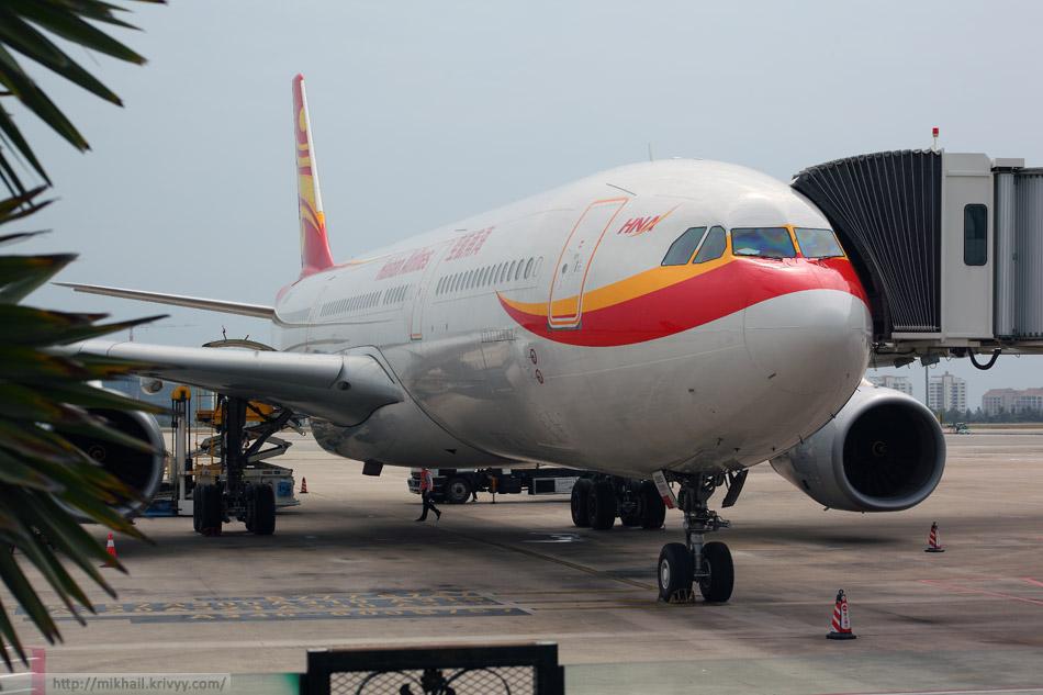 Hainan Airlines, Airbus A330-343X (B-5905), аэропорт Санья, Китай.