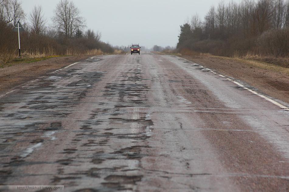 Дорога Остров - Вышгородок - КПП Убылинка