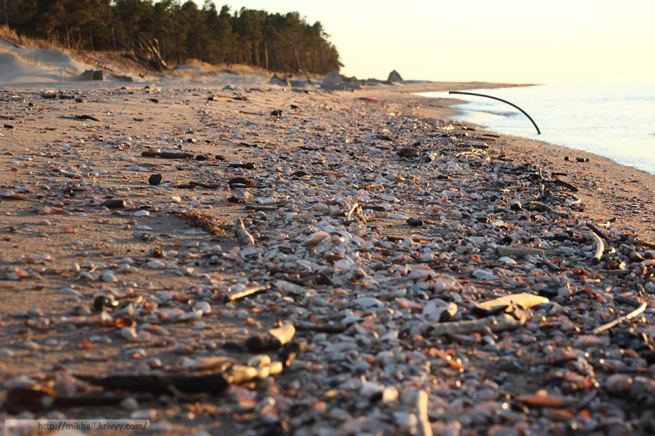 Пляж. Мыс Колка (Kolkasrags).