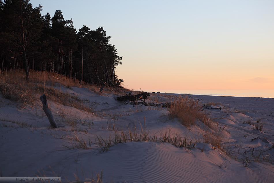 Пляжные дюны. Мыс Колка (Kolkasrags). Со стороны Балтийского моря.