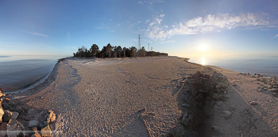 Мыс Колка (Kolkasrags). Панорама от края земли. За спиной только море.