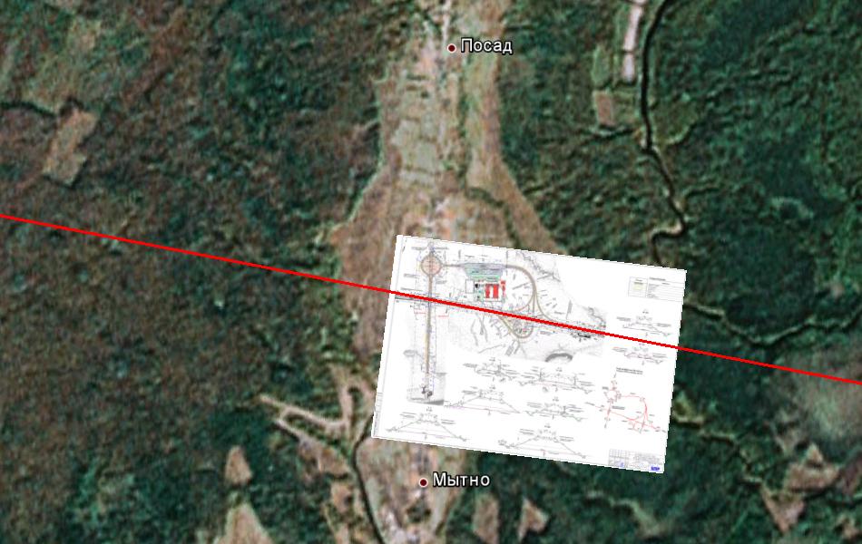 Развязка М11 на пересечении с автодорогой Новоселицы - Папортно в районе деревни Посад.