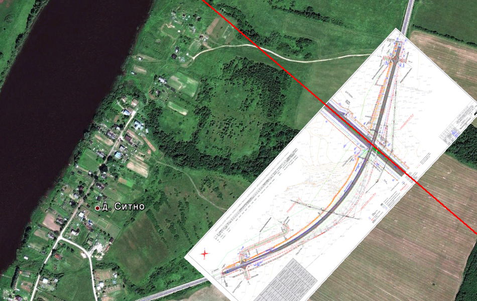 Пересечение М11 с автодорогой Савино - Селище в районе деревни Ситно.