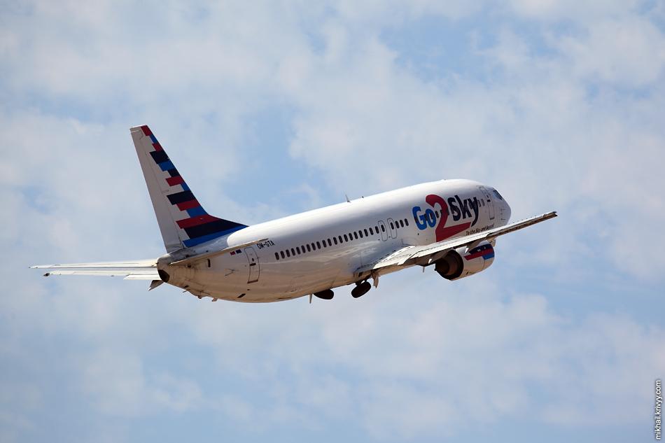 12:18, Boeing 737-400 OM-GTA, Go2Sky. Рейс 7M6022, Palma de Mallorca (PMI) - Milan Bergamo (BGY)