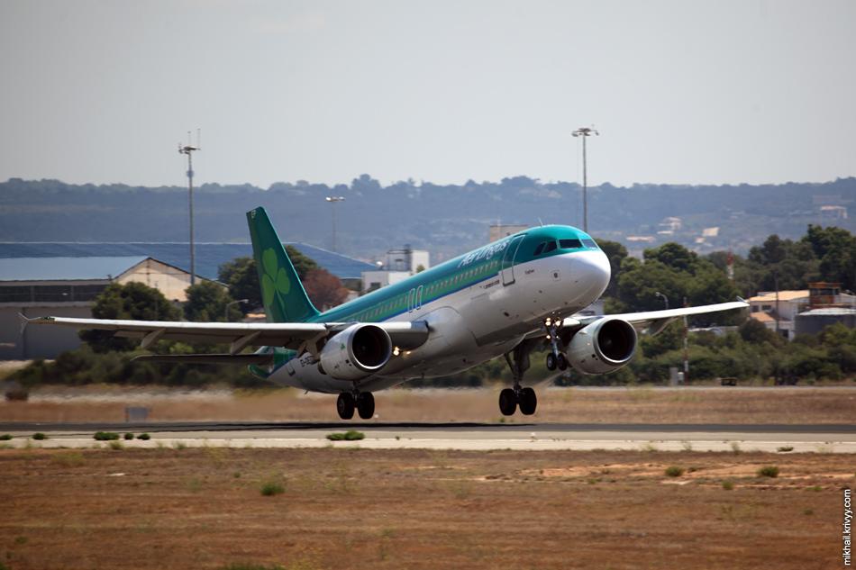 12:39, Airbus A320-214 EI-DEP, Aer Lingus. Рейс EI737, Palma de Mallorca (PMI) - Dublin (DUB)