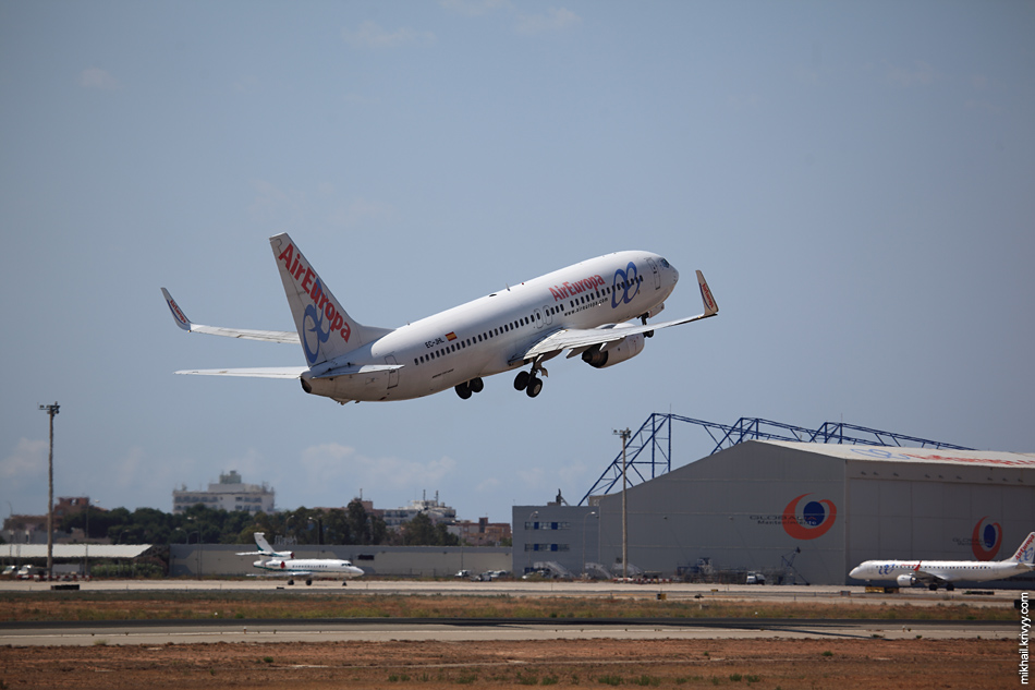 12:44, Boeing 737-800 EC-JHL, Air Europa. Palma de Mallorca (PMI) - Madrid (MAD)