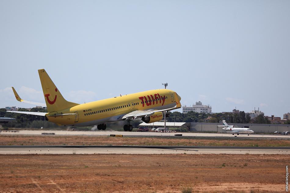 13:06, Boeing 737-800 D-ATUI, TUIfly. Рейс TUI96Y, Palma de Mallorca (PMI) - Stuttgart (STR)