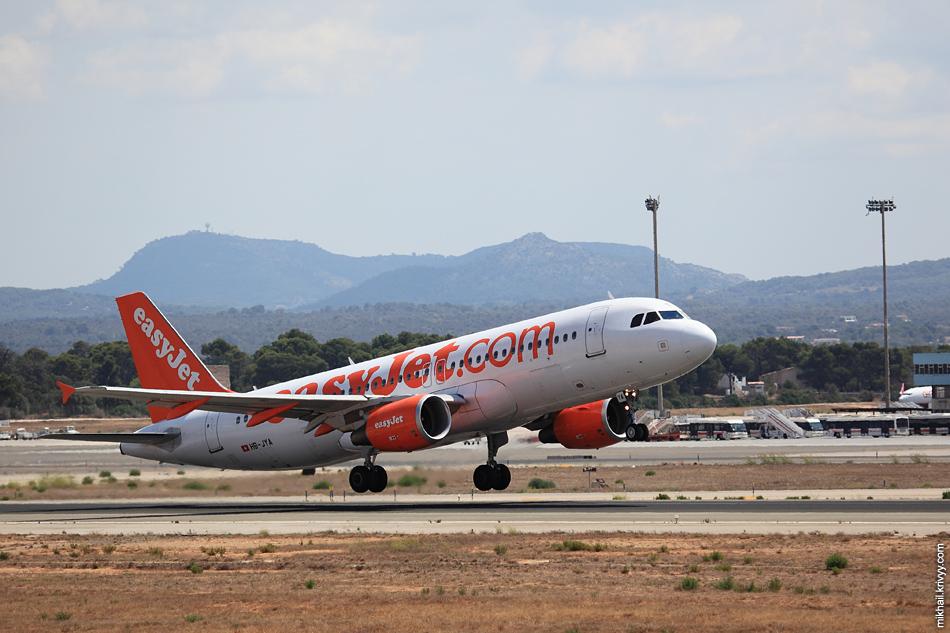 13:24, Airbus 320-214 HB-JYA, easyJet Switzerland. Рейс EZS288N, Palma de Mallorca (PMI) - Basel (BSL)
