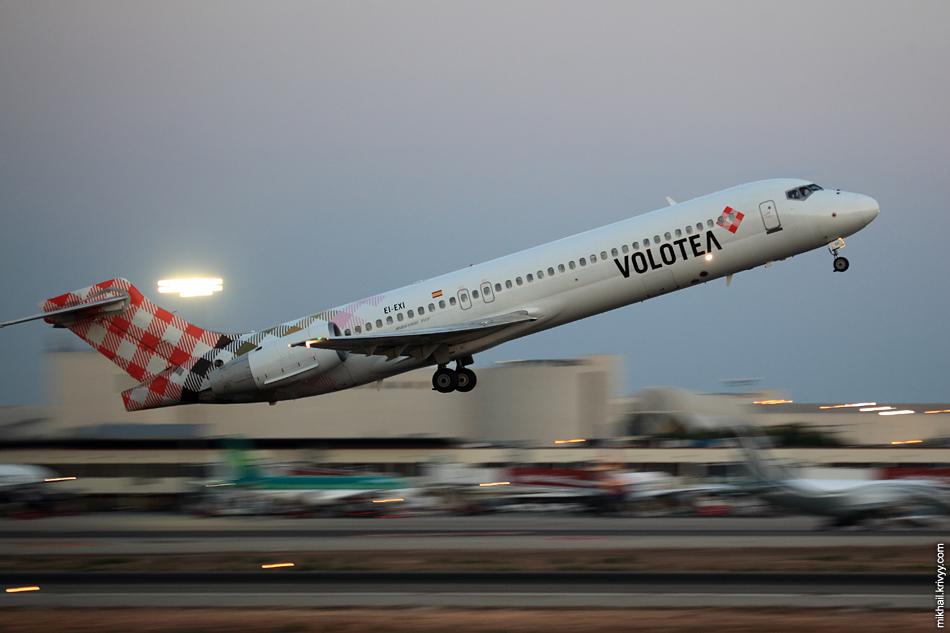 Эксперименты с проводкой. Boeing 717, EI-EXI, Volotea Airlines.