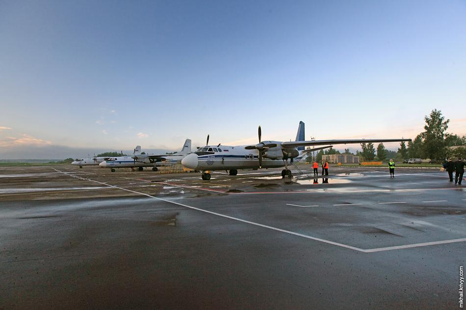 Ан-24РВ (RA-46473) в аэропорту Пскова. На нем мы и полетим.