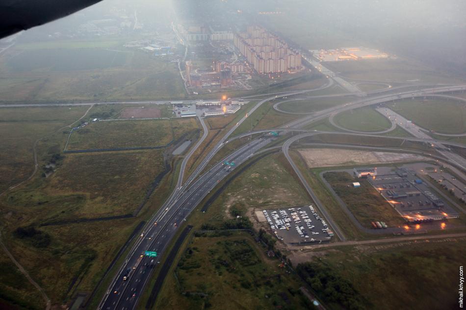 Развязка КАД и Таллинского шоссе.
