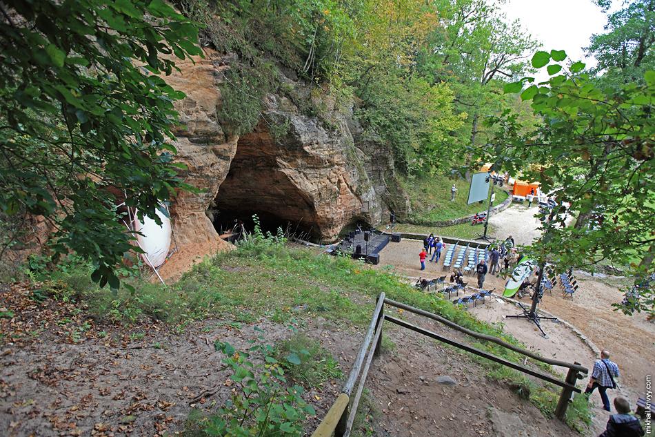 Пещера Гутманя - самая большая пещера в Прибалтике. Мы попали аккурат на день празднования национального парка.