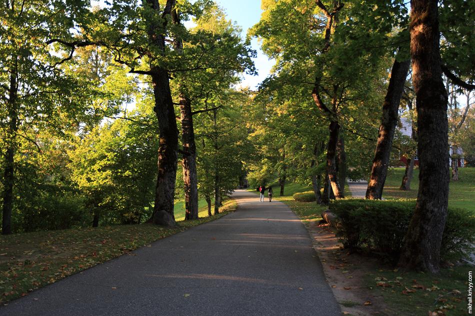 Парк в районе Турайдского замка.