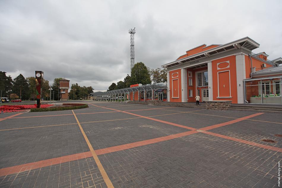 Вокзал Сигулды. Вид со стороны города.