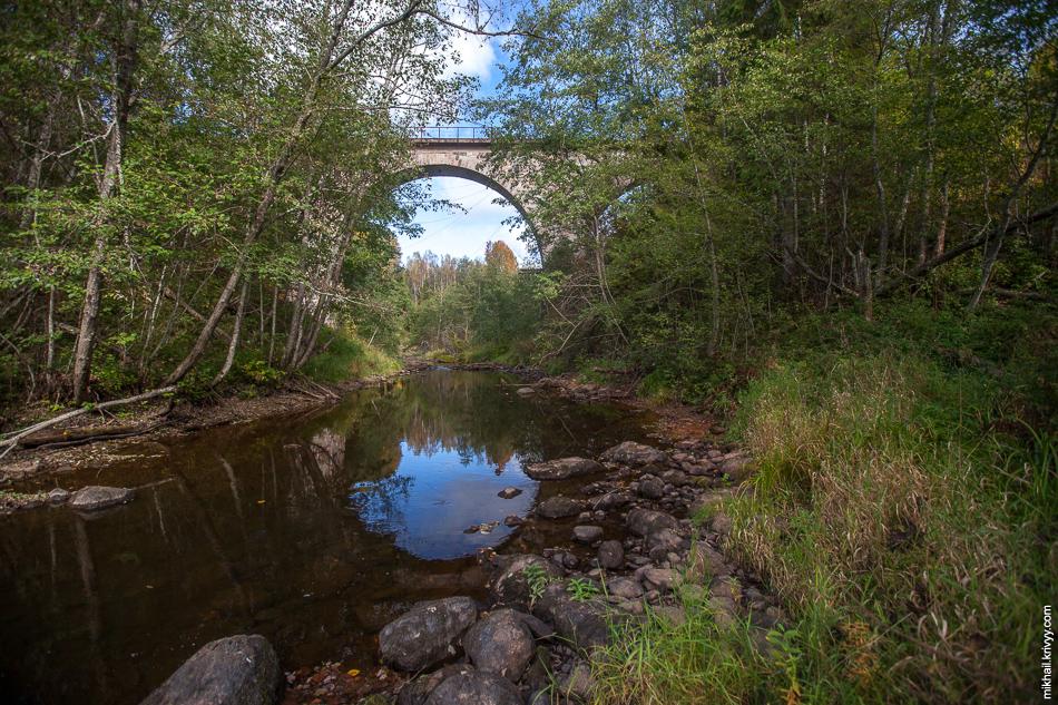 Река Ярынья. Железнодорожный мост.