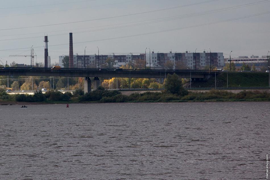 Вот так будет выглядеть Колмовский мост с нового моста.