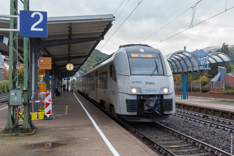 Электропоезд Siemens Desiro ML на станции Боппард (Boppard Hbf.)