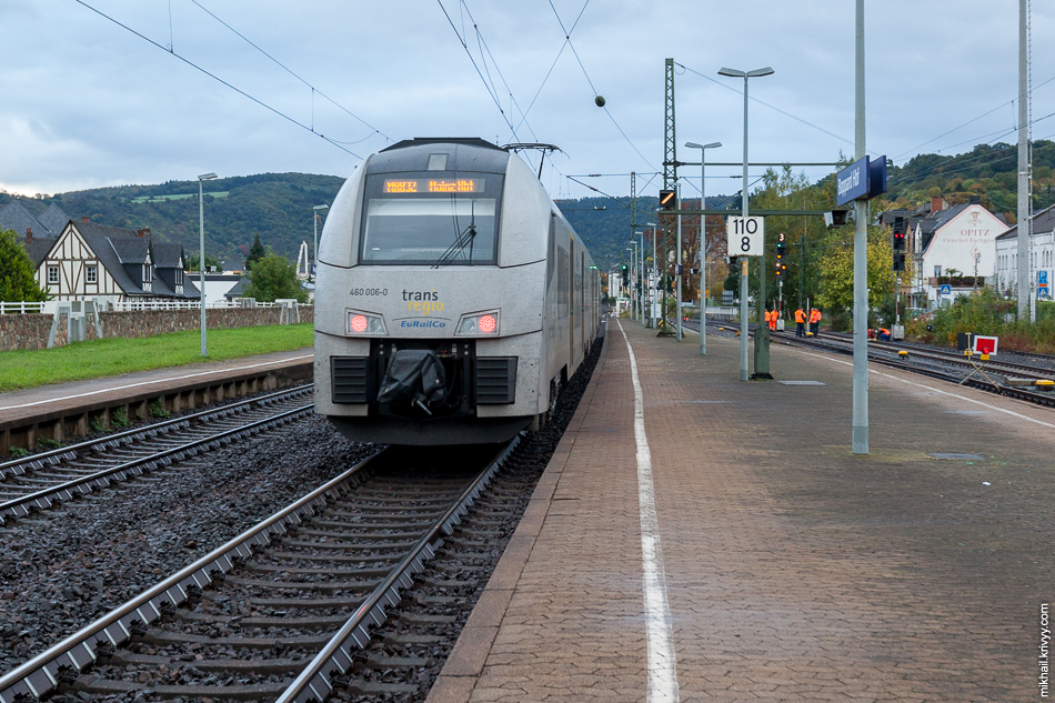 Siemens Desiro ML 460-006-0 на станции Боппард (Boppard Hbf.)