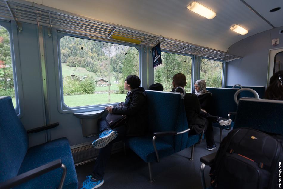 Примерно так выглядела публика в поезде. Все ехали до Юнгфрауйох (Jungfraujoch).